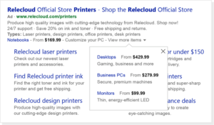 bing ads price extensions